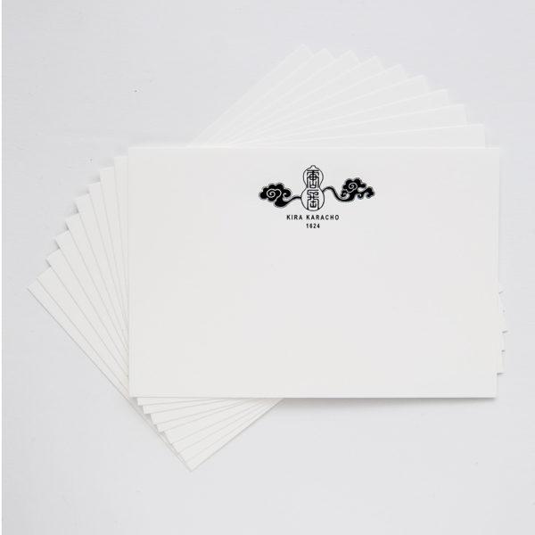 KIRA KARACHO ロゴ入りメッセージカード
