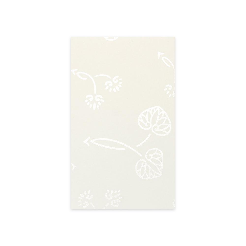 唐長文様名刺/双葉葵(ホワイト)箱入