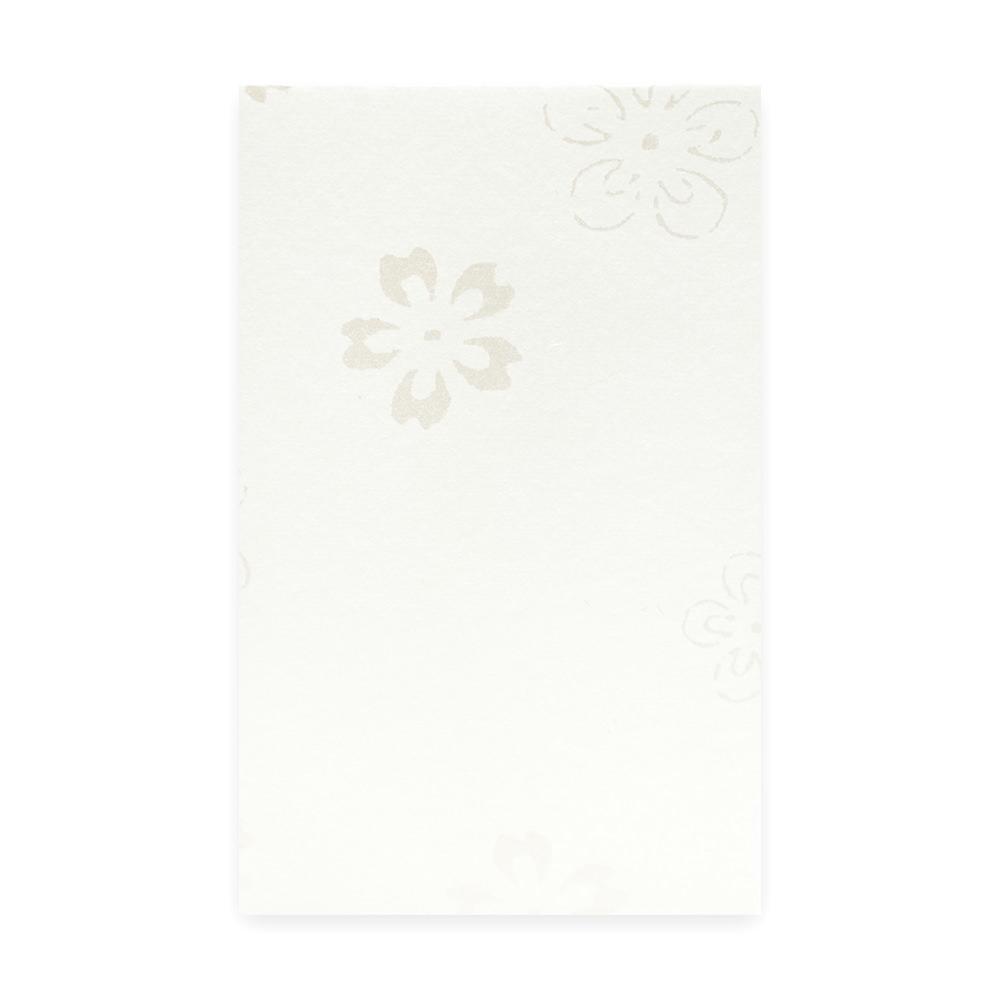 唐長文様 キラぽち袋 梅桜(ホワイト)