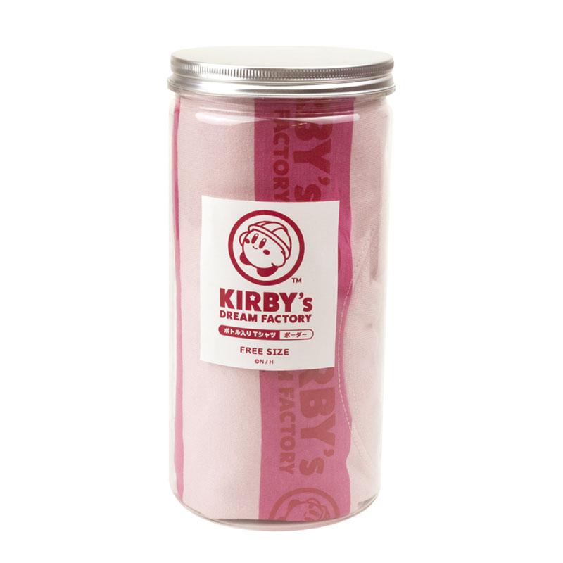 KIRBY's DREAM FACTORY ボトル入りTシャツ ボーダー