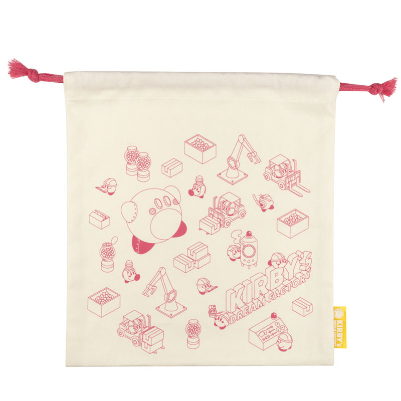 KIRBY's DREAM FACTORY 巾着M ロゴ