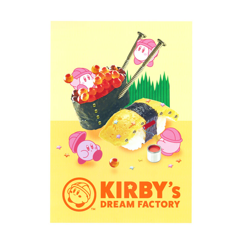 KIRBY's DREAM FACTORY ミニポスターカード お寿司