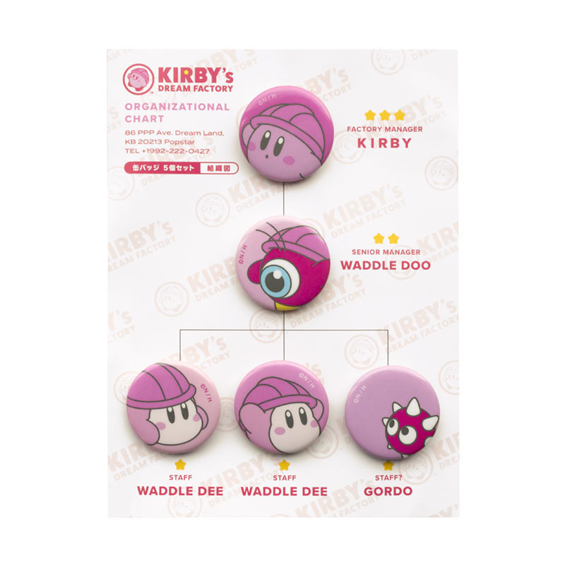 KIRBY's DREAM FACTORY 缶バッジ 5個セット