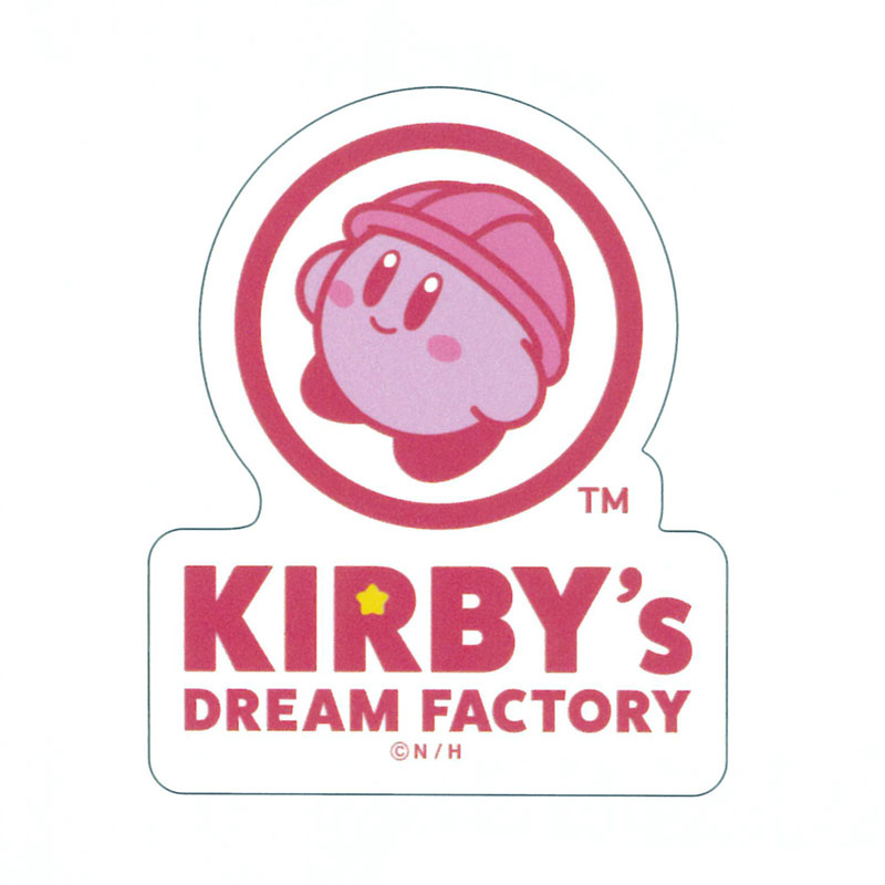 KIRBY's DREAM FACTORY ステッカー ロゴ