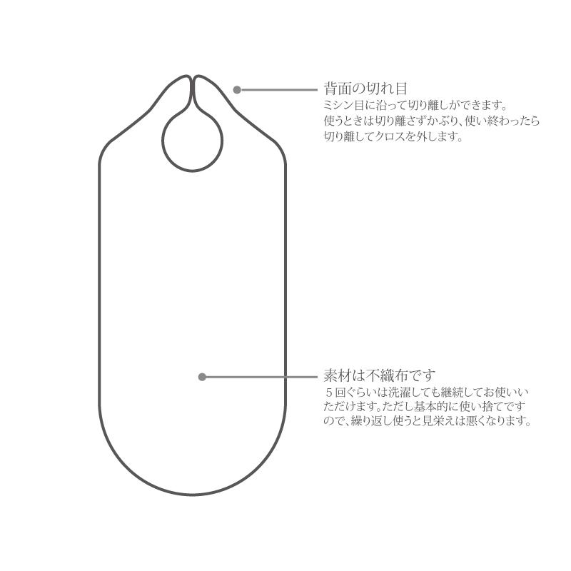 使い捨てコスメクロス【不織布】10枚セット