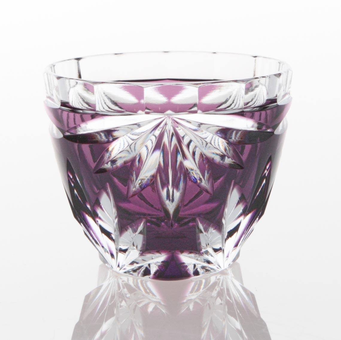 紫被菊花文ぐい呑(むらさきぎせ きっかもん ぐいのみ)