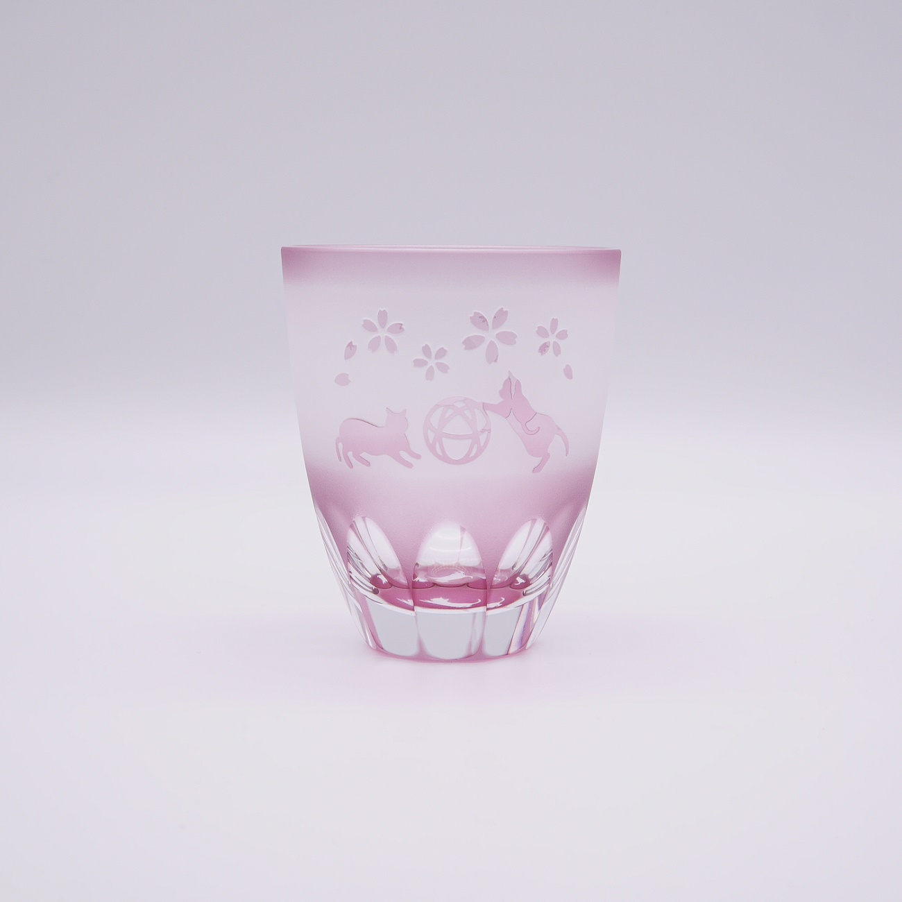 四季折々 月見ねこ 万華鏡万能グラス