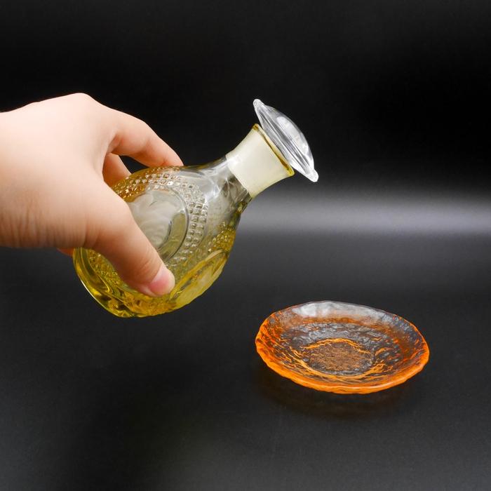 ★バラ柄醤油差し醤油皿セット(木箱付)