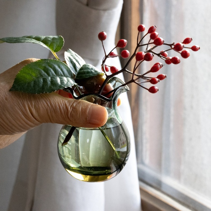 織波 花縁花器
