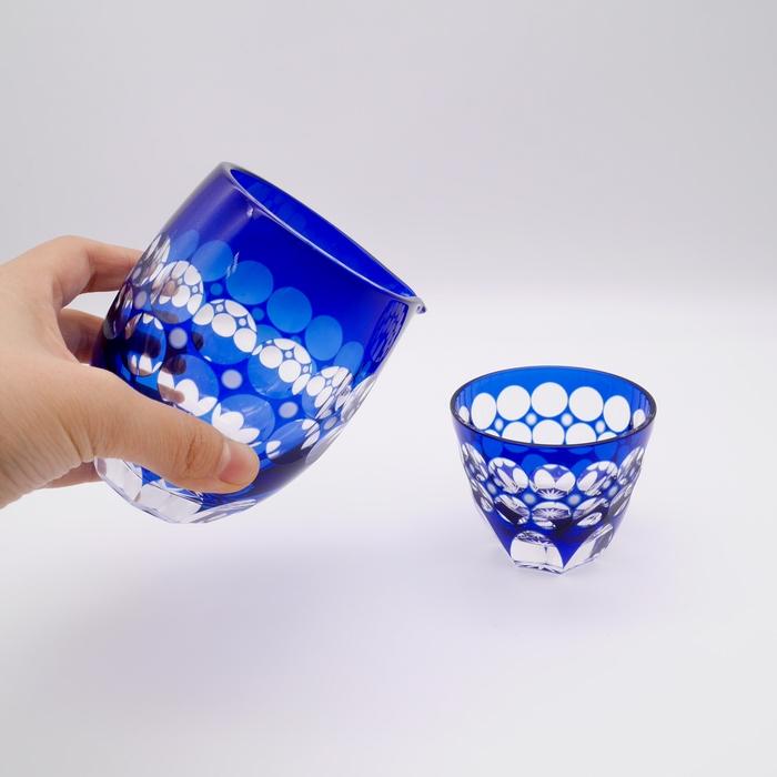 耐熱性小樽切子 珠玉 徳利(木箱付)