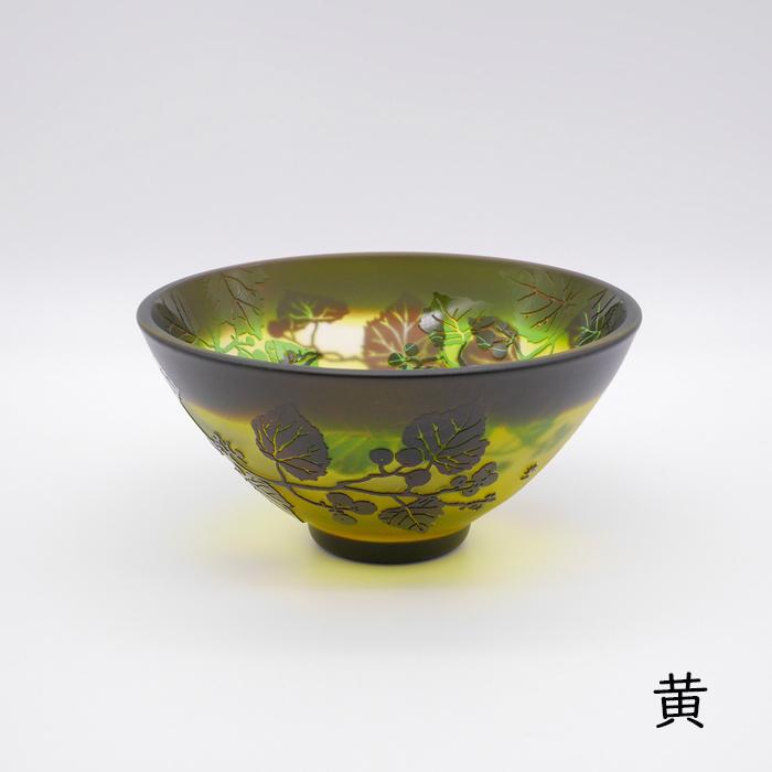 三色重ね 野葡萄 平茶碗