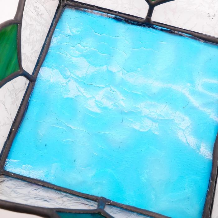 ステンドグラス 四角トレー