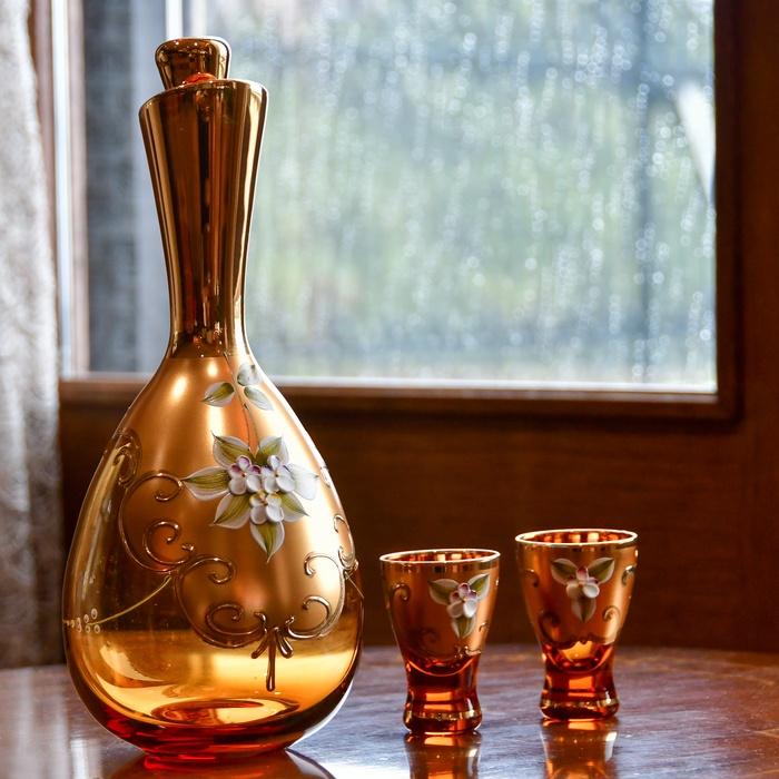 金彩 酒グラス  厚塗り