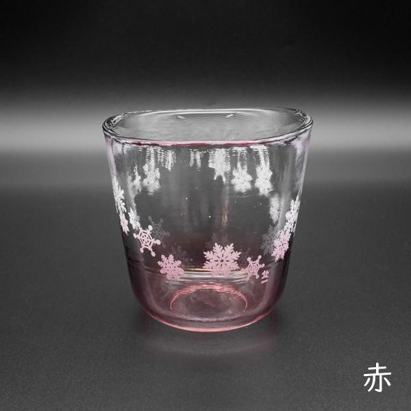 雪の結晶グラス