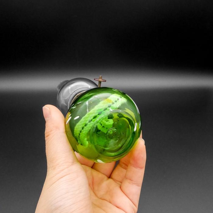 宙吹きミニランプ 細足ホヤ 緑
