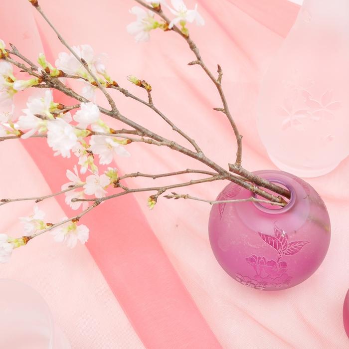 蝦夷山桜 丸一輪挿し