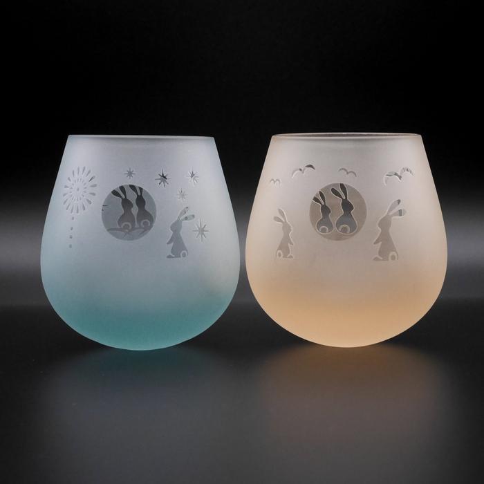 耐熱性 月見うさぎゆらゆらグラス