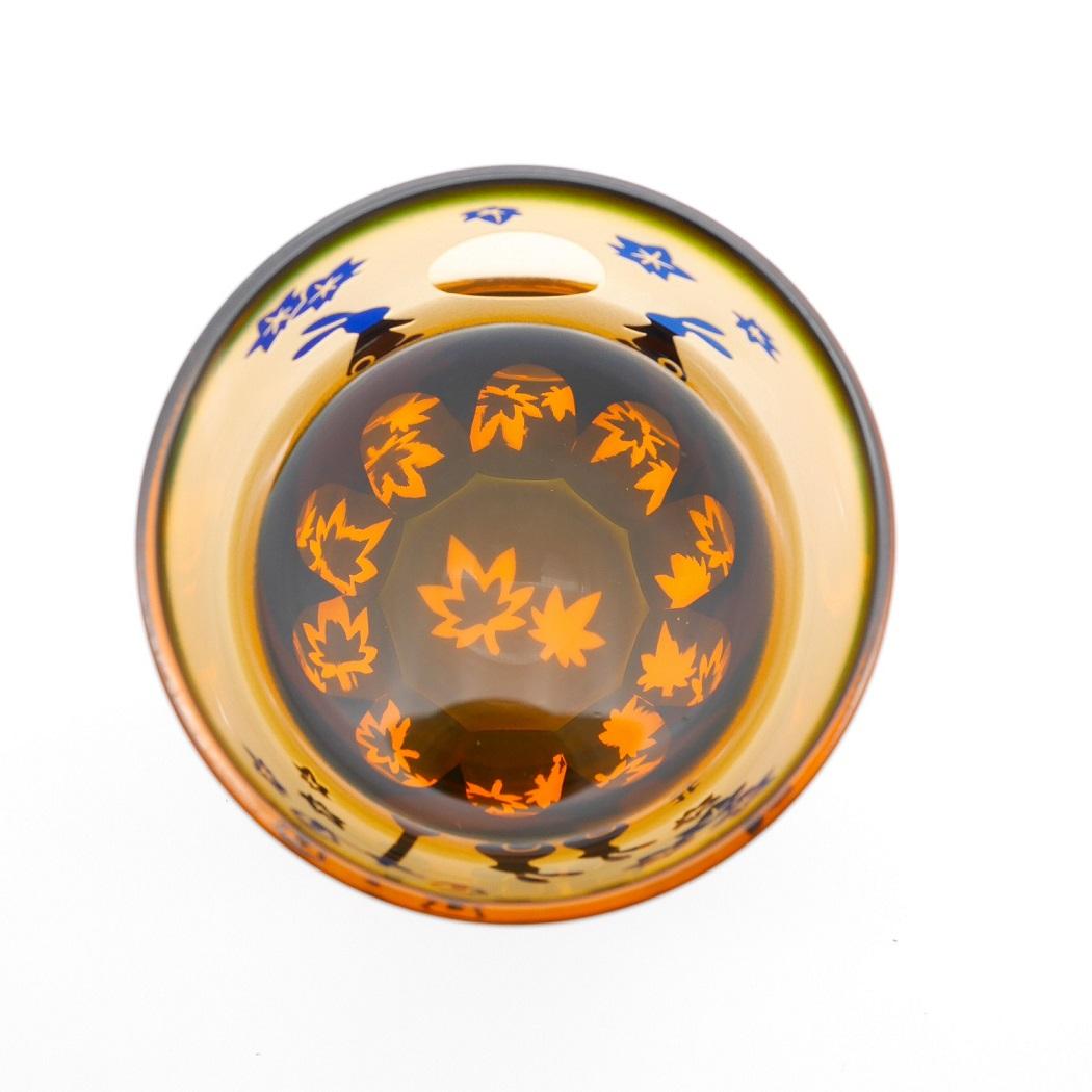 秋限定 月見うさぎ万華鏡万能グラス 運河紅葉