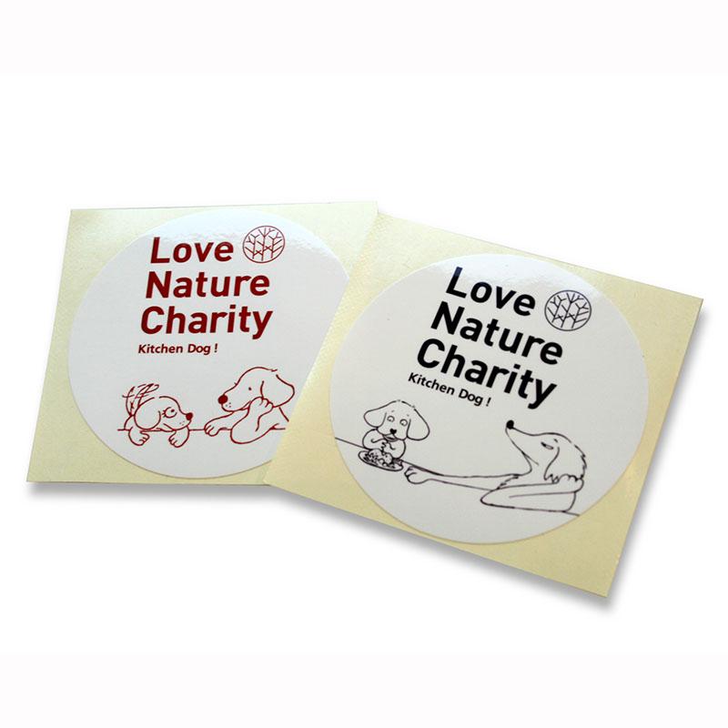 Love Nature Charity Sticker RED Gablin & Bebinca【ラブネイチャーチャリティー ステッカー RED『 ガブリンとばびんか』】