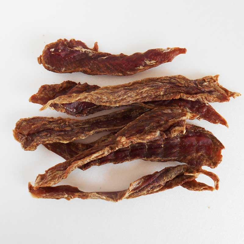 ◆【合鴨ささみの干し肉】Dried duck jerkey
