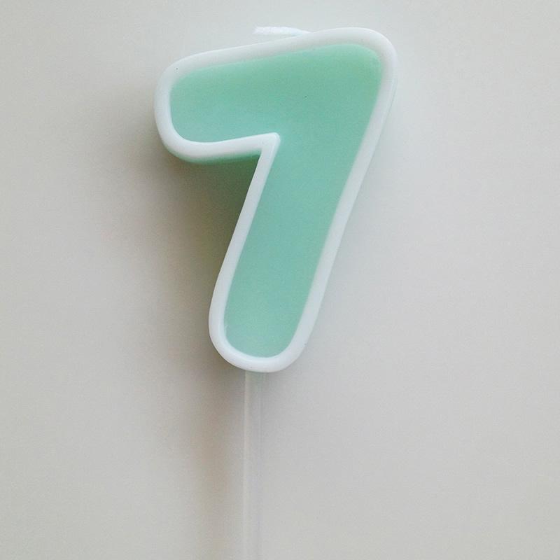 Number Candle 7【ナンバーキャンドル 7】