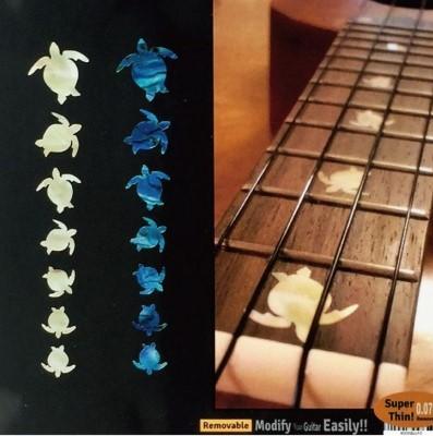 【ウクレレ用ステッカー】指板用 ホヌ・ウミガメ (2色) ※ネコポス対応商品
