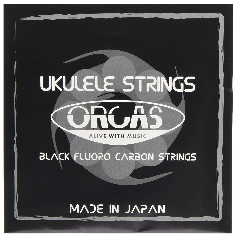 【ORCAS】OS-MED LG ウクレレ弦(Low-Gセット/ブラックフロロカーボン)※ネコポス可