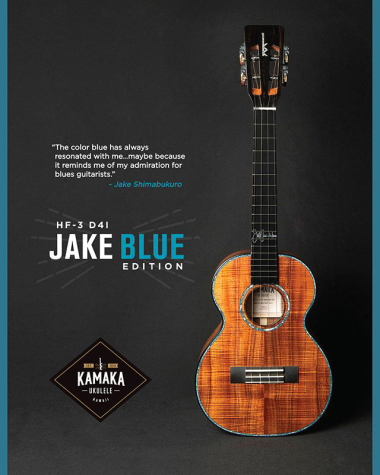【KAMAKA】】KAMAKA HF-3 D4I (JAKE BLUE EDITION) テナーサイズ