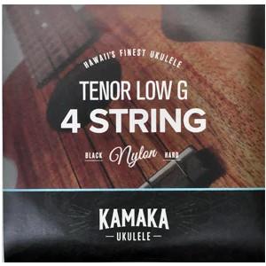 【KAMAKA】ブラックナイロンLow-G弦セット S-3G (テナー用)※ネコポス可