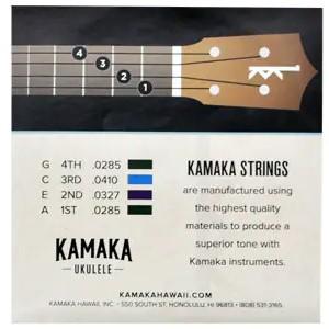 【KAMAKA】ブラックナイロン弦セット S-3 (テナー用)※ネコポス可