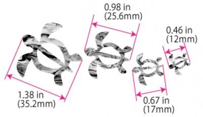 【ウクレレ用ステッカー】ホヌ・ファミリー (2色) ※ネコポス対応商品