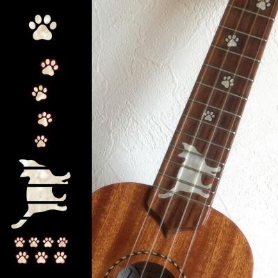 【ウクレレ用ステッカー】指板用 猫足 ※ネコポス対応商品