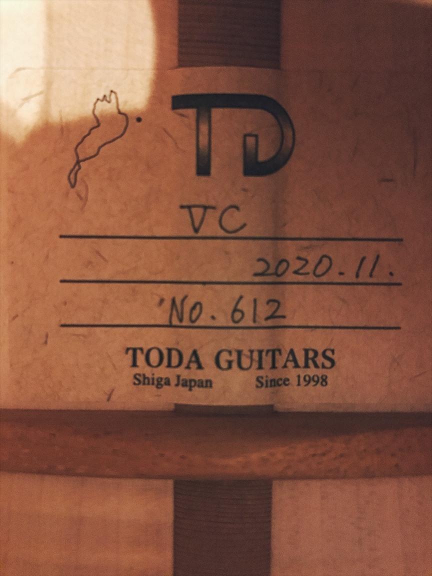【TODA GUITARS】VC No.612 コンサートサイズ