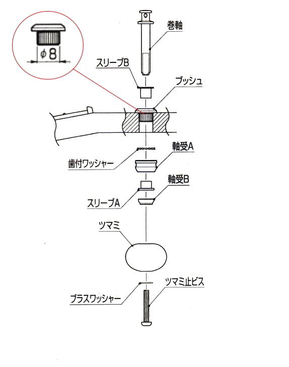 GOTOH製ペグC-5(シルバー)