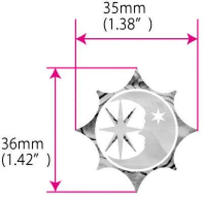 【ウクレレ用ステッカー】太陽、月、星 シンボル ※ネコポス対応商品