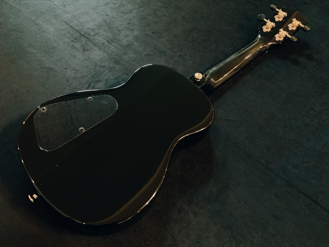 【T's Ukuleles】ECF-100 BLACK コンサートサイズ 限定カラー
