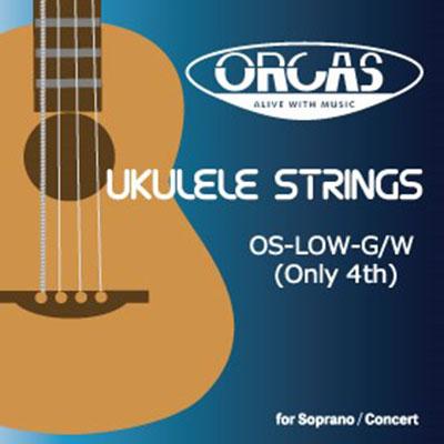 【ORCAS】OS-LOW-G/W ウクレレ弦(Low-G単品/巻弦)※ネコポス可