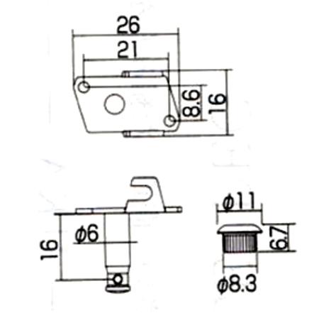 GOTOH製 ギアペグ E-3