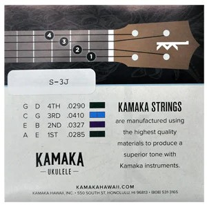 【KAMAKA】クリアナイロン弦セット S-3J (テナー〜バリトン用)※ネコポス可