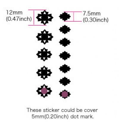 【ウクレレ用ステッカー】指板用 カットダイヤ (2色)※ネコポス可