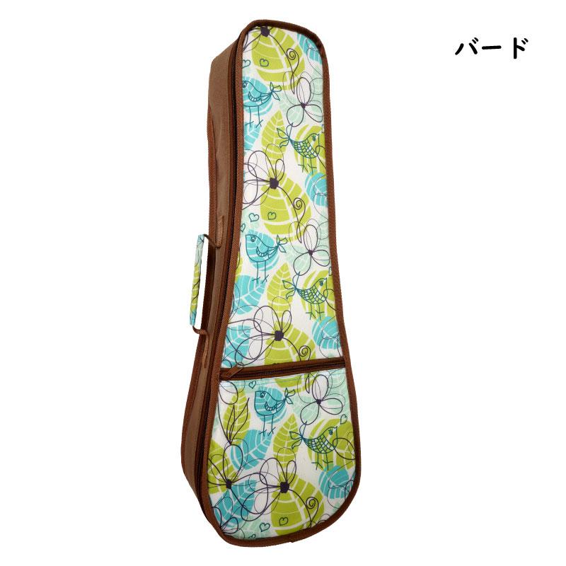 【可愛いソプラノ用ソフトケース♪】NO.40-S 柄3種類 (タトゥー・バード・フラワー)