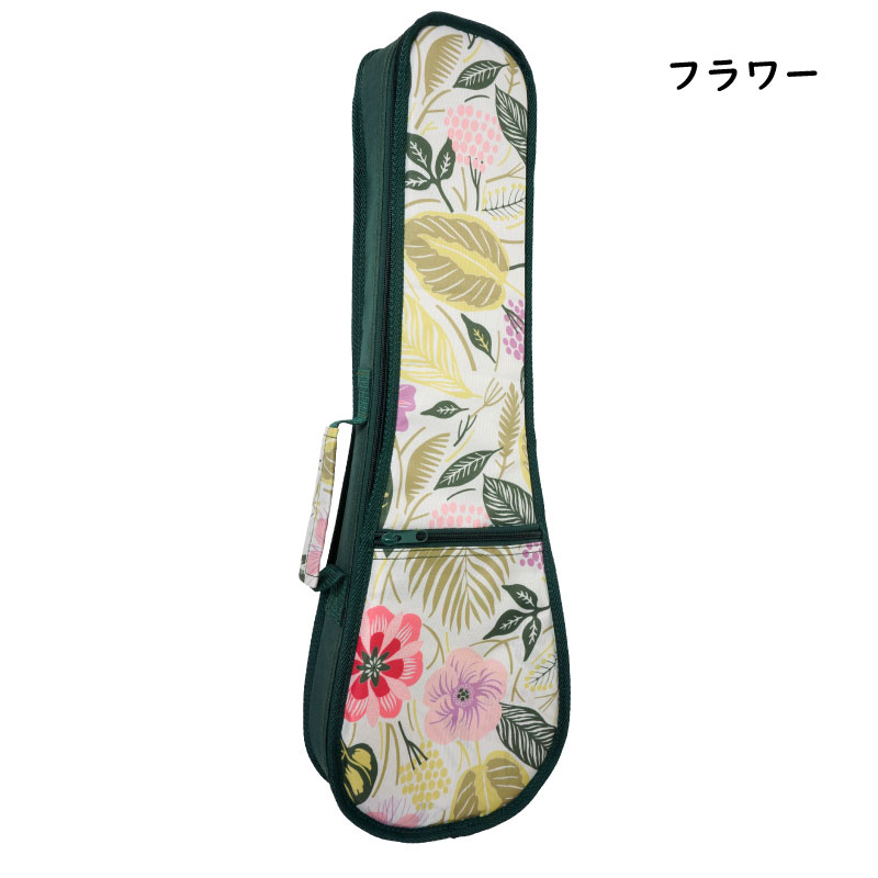 【可愛いコンサート用ソフトケース♪】NO.42-C 柄3種類 (タトゥー・バード・フラワー)