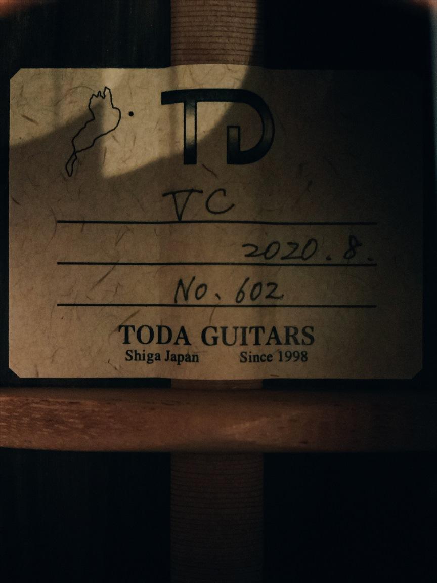 【TODA GUITARS】VC No.602 コンサートサイズ