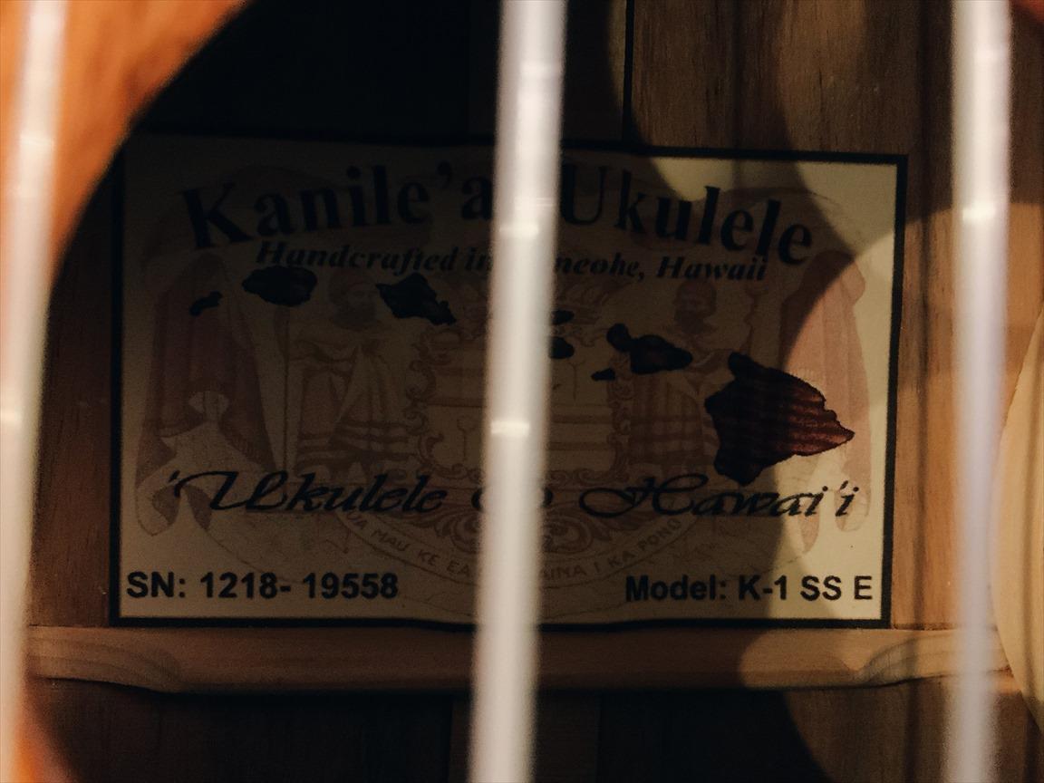 【Kanile'a】K-1SS/E #19558 ソプラノロングネック
