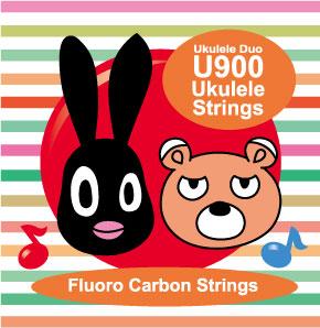 【U900】OS-U900 ウクレレ弦(High-Gセット/レッドフロロカーボン)※ネコポス可