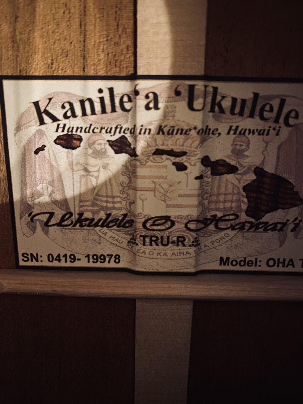【Kanile'a】OHAT #19978 テナーサイズ