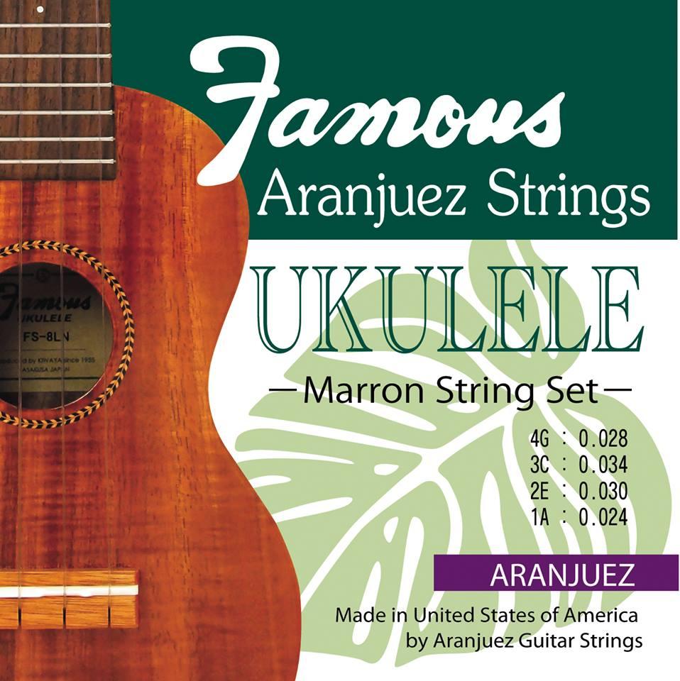 【ナイロン弦セット】Famous Aranjuez Marron 弦セット※ネコポス対応商品