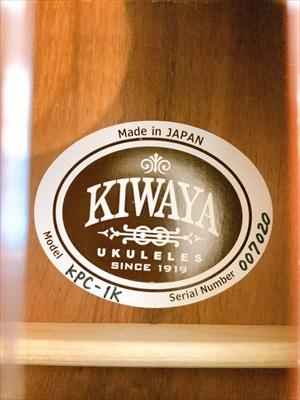 売却済【KIWAYA】 KPC-1K / K&K ALOHA TWIN搭載 コンサート