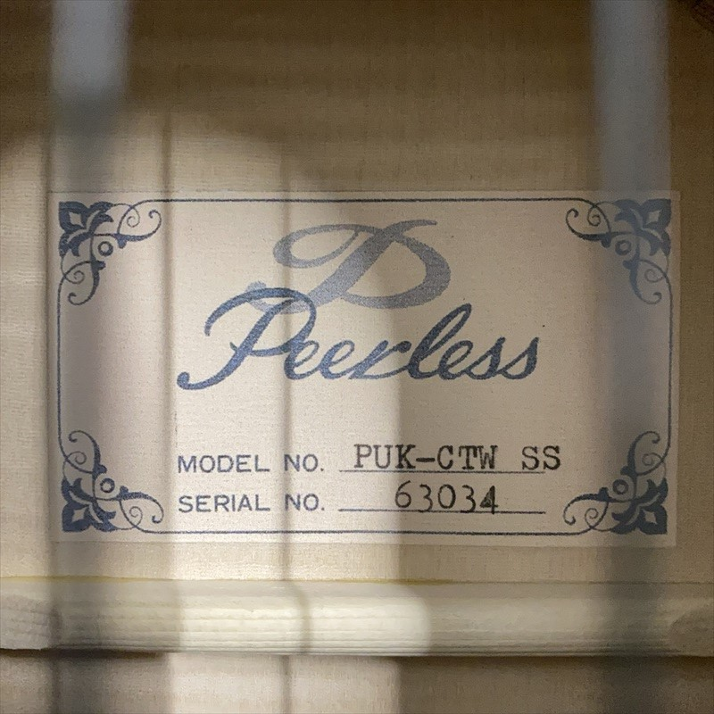 【Peerless】PUK-CTW SS #63034 コンサートサイズ