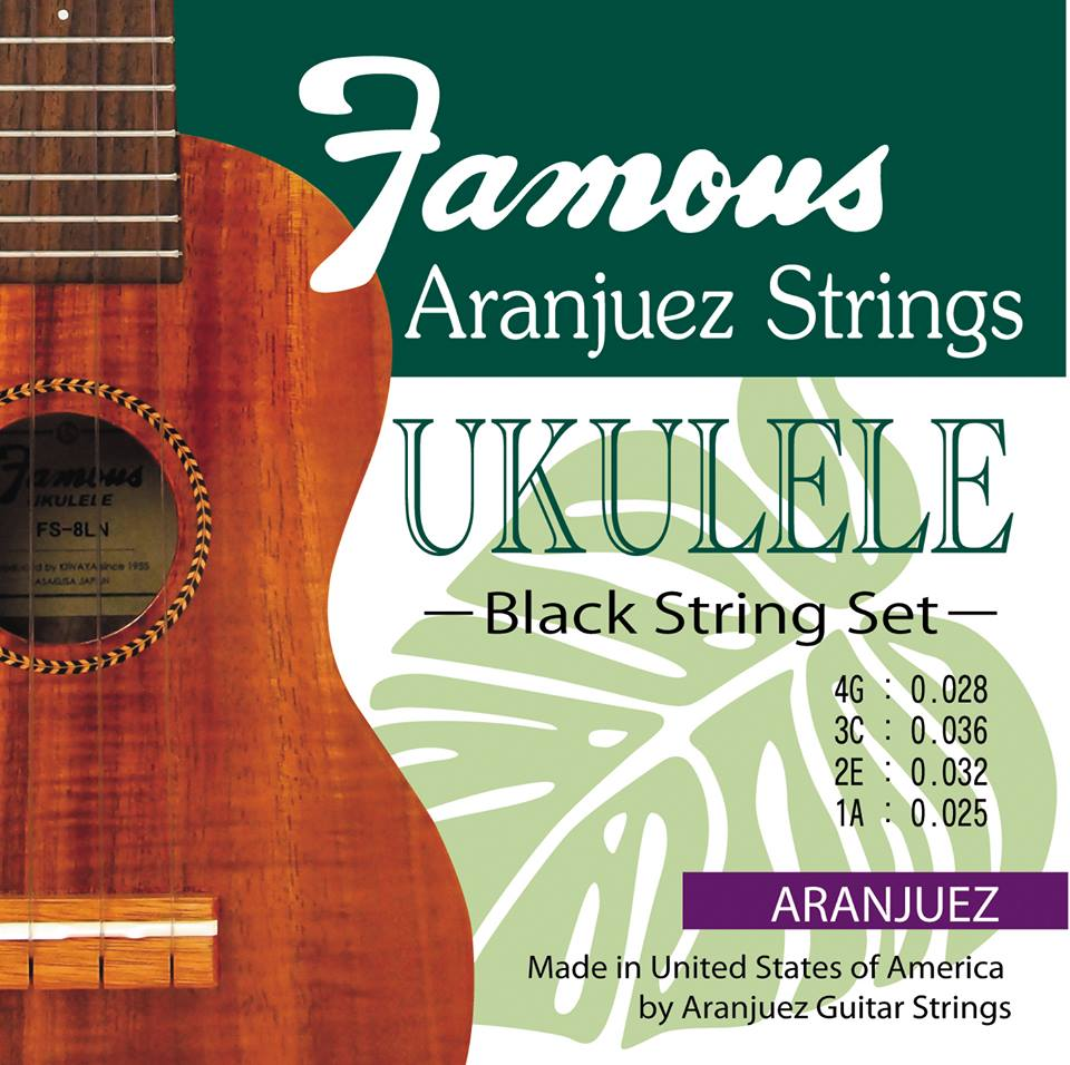 【Famous】Aranjuez Black ウクレレ弦(High-Gセット/ブラックナイロン)※ネコポス可
